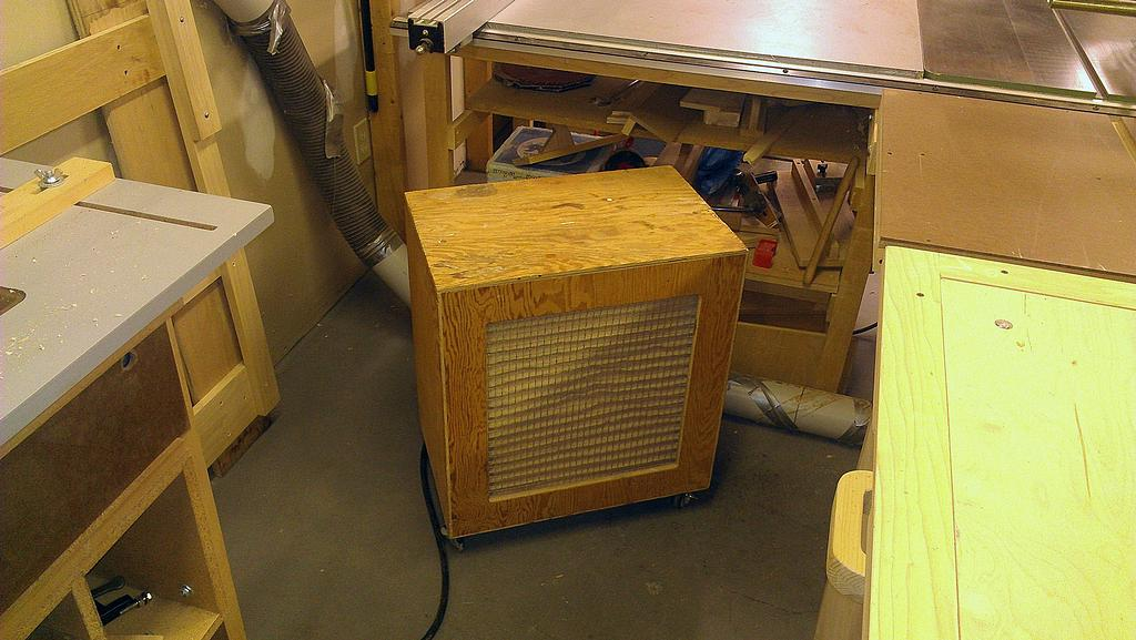 Woodshop air filtration unit