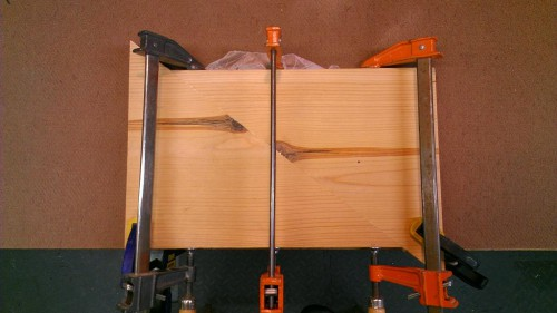 Gluing up board halves