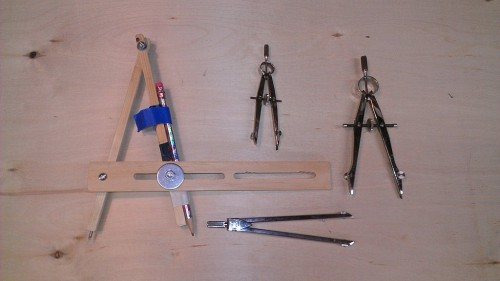 Assortment of compasses