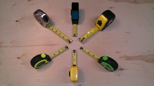 My assortment of measuring tapes