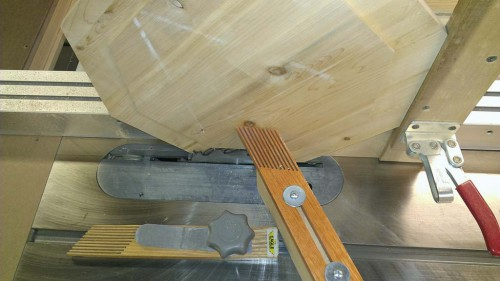 Octagon tenon jig close up