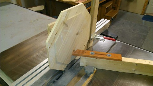 Octagon tenon jig front view