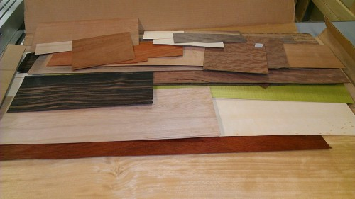 Assortment of marquetry veneers