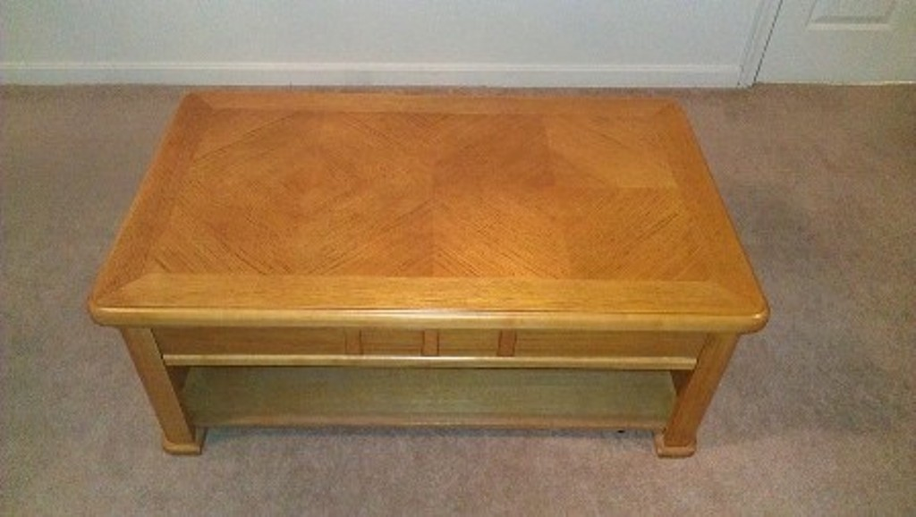 End Result Of Coffee Table With New Finish
