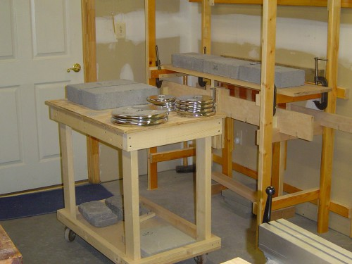 Shelf deflectometer weight cart