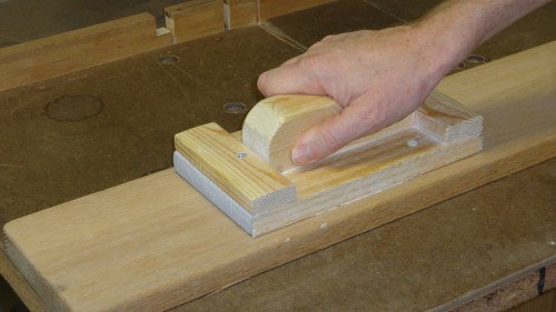 Home-made sanding block