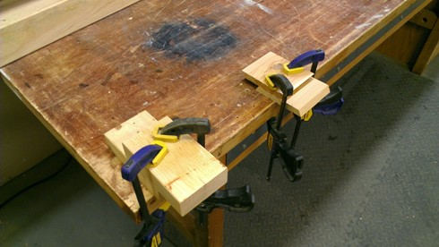 Glued-up boards allowed to set for 24 hours