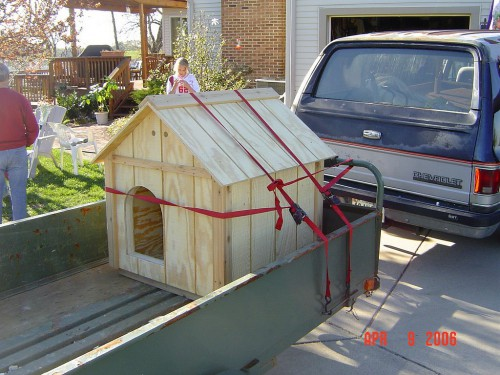 Dog house headed off to a new home