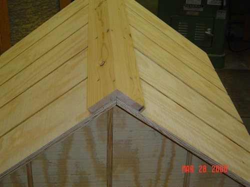 Dog house roof ridge cap