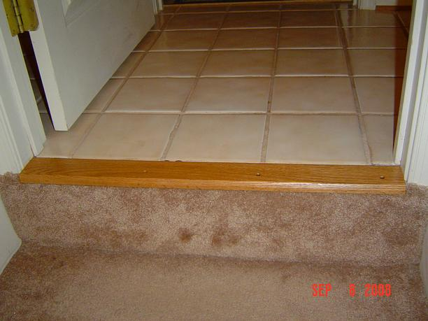 Oak carpet trim
