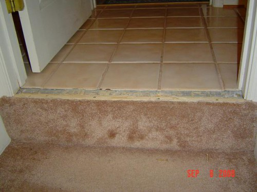 Floor without trim strip