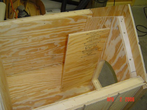 Interior wind deflection panel
