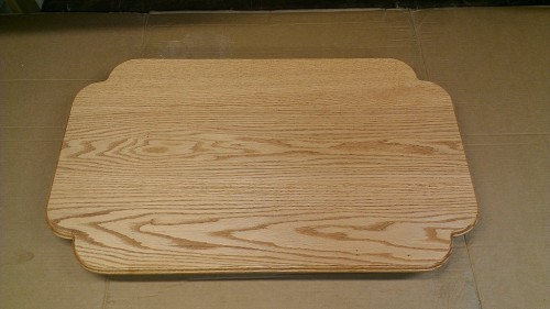 Oak table top with scalloped corners