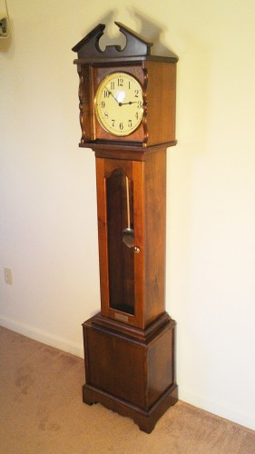 Maple floor clock