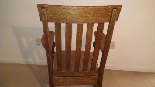 Restored rocking chair back view