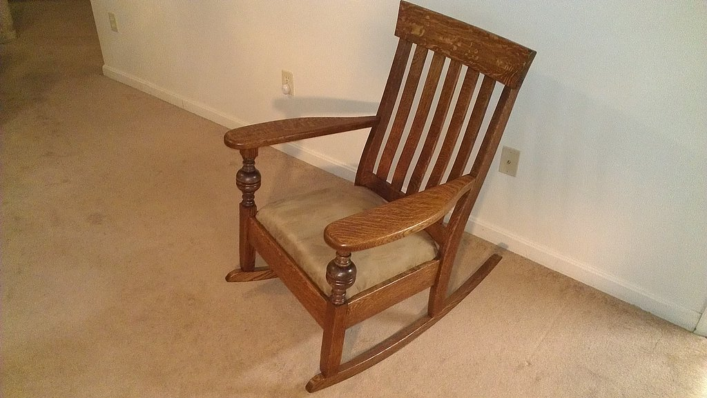 Fully restored Mission style rocking chair