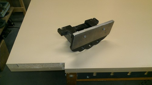 Rear vise jaw ready for mounting