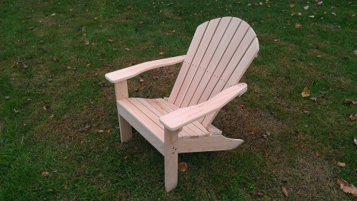 Shell back Adironack chair made from western red cedar