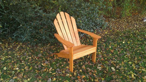 All season Adirondack chair made from cypress