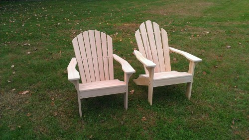 Adirondack chair variations: shell back and traditional back