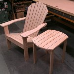 Adirondack chair and matching table ready for finishing