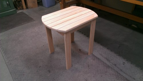Adirondack side table made from solid cedar