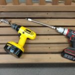 Side-by-side comparison of Milwaukee and Ryobi adapters