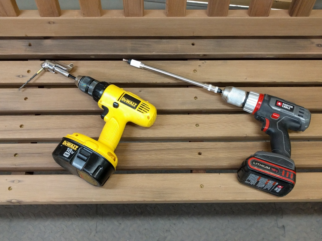 Side By Comparison Of Milwaukee And Ryobi Adapters