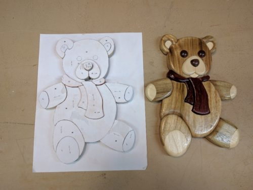 One teddy intarsia finished, another one underway