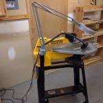 DIY scrollsaw mount for magnifying lamp